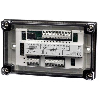 Global Fire 3 I/O Plus 3 csatornás modul, izolátoros